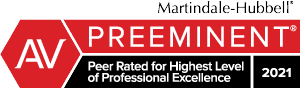 Martindale-Hubbell Peer Rated for High Professional Achievement