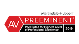 Peer Rated for Highest Level of Professional Excellence 2019